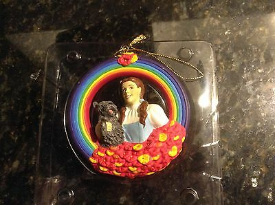 """Warner Bros. 2000 Dorothy and Toto Rainbow Ornament 3 1/2"""""""