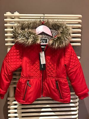 RIVER ISLAND ��girls Jacket/Fur Trimmed Hood 3yrs Cost£35 NEWTags Xmas Gift����