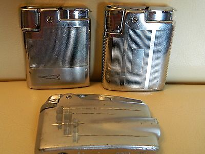 Ronson Varaflame Lighters x3