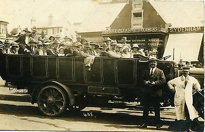 Charabanc Parked Opposite the Pier, BOURNEMOUTH, Hampshire RP
