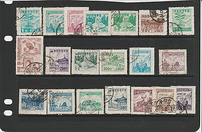 KOREA -South 1952-55 small collection, better values noted. Mainly Used