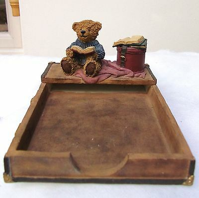 Teddy Bear Trinket Desk Tidy Collectable From The Leonardo Collection