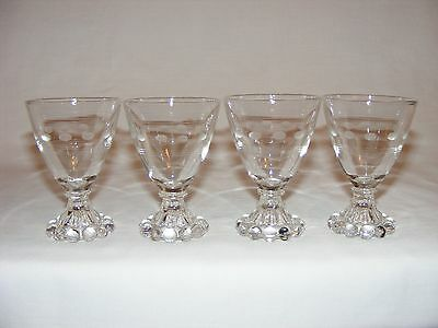 Vintage Set ~ Fire King Anchor Hocking Crystal Clear  Boopie Glass Tumblers