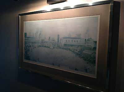 L S LOWRY Limited Edition Print Lancashire League Cricket Match Numbered 430/850