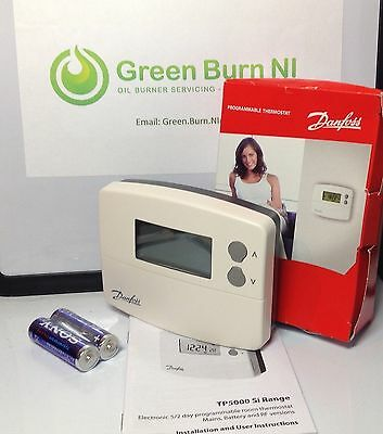*New Danfoss TP5000-RF Si Programmable Thermostat Wireless Part No. 087N791200