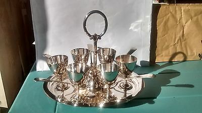 Antique silver plated egg cups