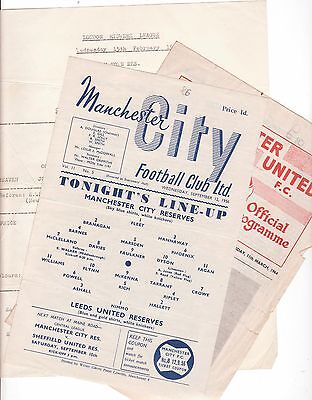 Newcastle Res V Manchester City Res 1953/54