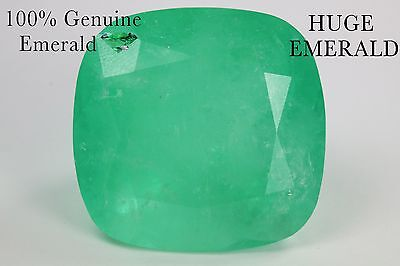Top Fabulous 114.05 Cts Natural Faceted Rich Green Emerald Gemstone Cushion Cut