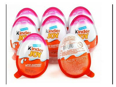 50x Kinder JOY Surprise Eggs for GIRL,Chocolate Toy Inside