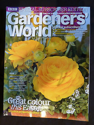 Gardener's World, Apr. 2015. Great colour for Easter, Special subscriber edition