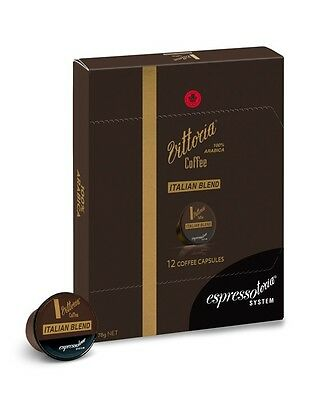 8 box Premium Italia Blend Vittoria Coffee (96 Pods) Espressotoria-Save 20% RRP!