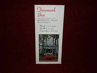 Vintage Tecumseh Inn Brochure Waterville Valley, NH circa 1970s