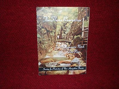 Vintage The Flume Reservation Franconia Notch Lost River Brochure 1942