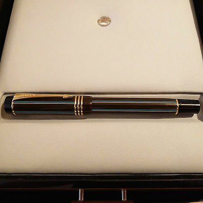 Parker Duofold Rollerball Pen in Rare Chocolate Pinstripe Colour