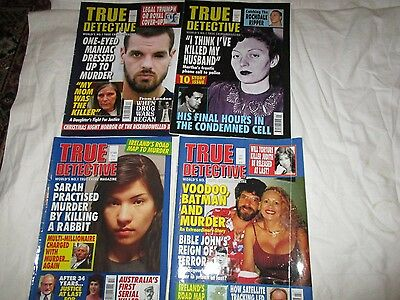 Job Lot 4 True Crime Magazines - True Detective
