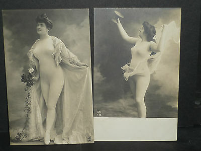 Vintage Glamour - 2 cards of beauties in body stockings