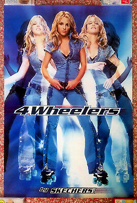 """Britney Spears """"4 Wheelers by Skechers USA"""" Huge Poster 23x35 NEW"""