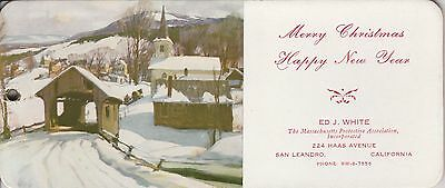 Vintage Advertising 5 Ink Blotters COVERED BRIDGE,CHURCH SNOWING MOUNTAIN TOWN