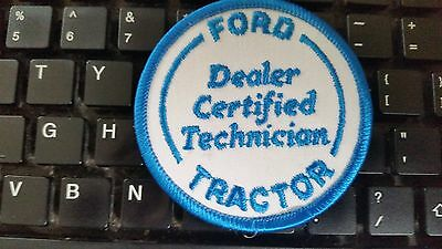 Ford tractor dealer certified technician patch  vintage old