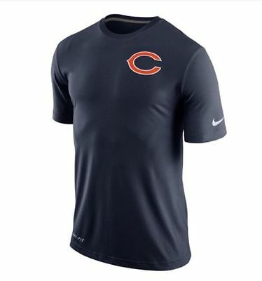 Chicago Bears NFL American Football Nike Dri-Fit T-Shirt Blue XXL