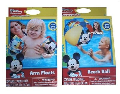 Mickey Mouse Inflatable Arm Floats And Beach Ball
