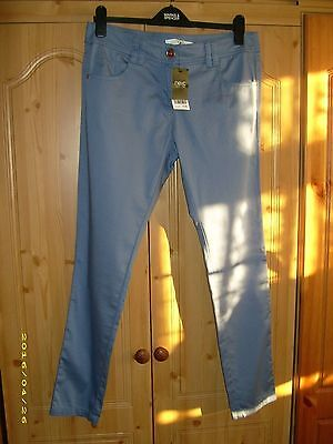 Next Cotton Jeggings Blue 12R New With Tags Rrp £26