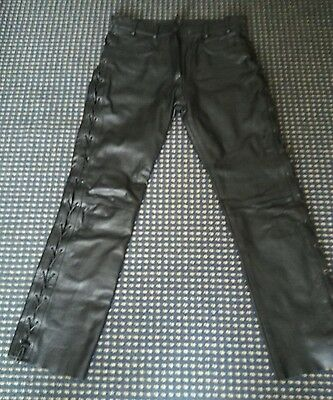 ladies leather trousers size 14