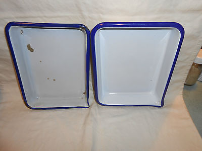 Vintage Eastman Kodak Enamel 5 x 7 Developing Tray Made in Austria and Another