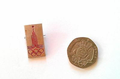 RARE MOSCOW OLYMPICS 1980 BADGE Pin Sports Soviet Union Russia Games Collectable