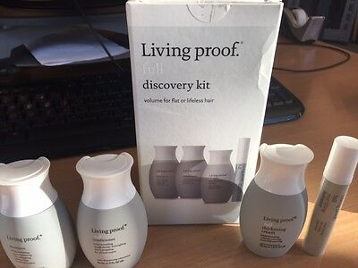 LIVING PROOF full discovery kit - volume for flat or lifeless hair - worth £25