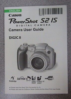 user guide canon powershot s2 is instruction manual english rh picclick com Canon PowerShot Is S2 Parts Canon PowerShot Is S2 Parts