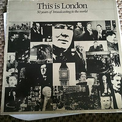 1982 vinyl BBC LP; THIS IS LONDON 50 years of broadcasting to the world
