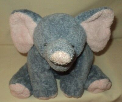 Ty Pluffies Soft Plush Elephant WINKS Lovey Baby Toy