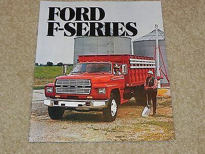 1982 Ford F-Series HD Truck Dealer Sales Brochure NOS From Ford Dealer