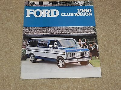 1980 Ford Club Wagon Dealer Sales Brochure NOS From Ford Dealer