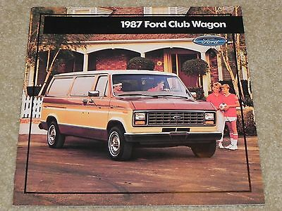 1987 Ford Club Wagon Dealer Sales Brochure NOS From Ford Dealer