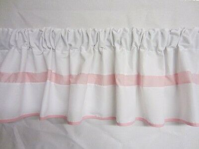 BabyDoll Bedding Baby Doll Bedding  Modern Hotel Style Window Valance, Pink