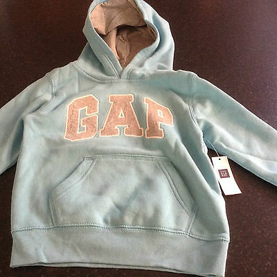 genuine GAP boy/girl hoodie/jumper blue with grey logo BNWT 4 years