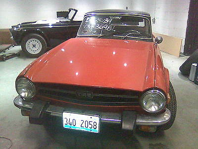 Triumph TR6 1975 for restoration, starts and drives, may part ex or could break