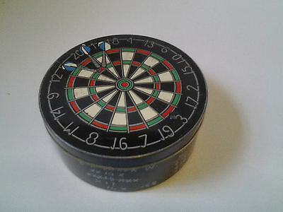 G Knight Mint Imperials tin with dartboard design on lid & scores round side