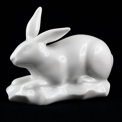 "Sujet ""LAPIN"" Porcelaine HAVILAND LIMOGES France Art Deco/robj/rabbit figurine"