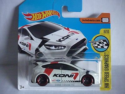 Hot Wheels - 2017 Issue '16 Ford Focus Rs [ White ] Mint On Short Card