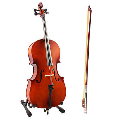4/4 Full Size Cello Outfit Cello Bow Rosin/Hard Case-Nice Sound Student Cello UK