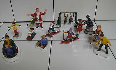 Lemax and others Christmas figures lot Santa  See pictures. Very nice lot