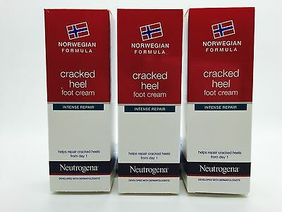 Neutrogena Norwegian Formula Cracked Heel Foot Cream (3 x 50ml) Intense Repair