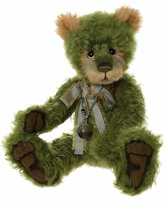 Charlie Bears Merengue Teddy Bear Green Mohair Isabelle Lee Collection 2016