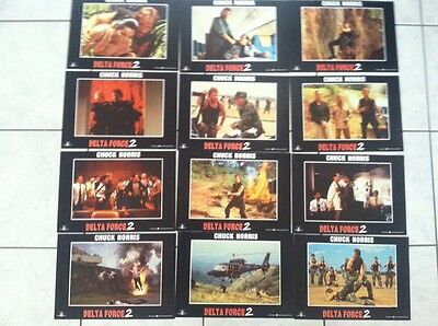 Delta Force 2 Spanish Lobby Cards Chuck Norris! Cannon!