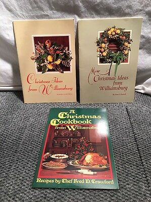 Three Colonial Williamsburg Christmas Ideas And Cook Books