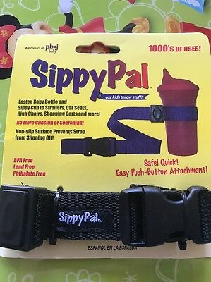 5*Sippy Pal No Drop Baby Bottle Toy Sippy Cup Holder Strap For Stroller 52*1.5CM
