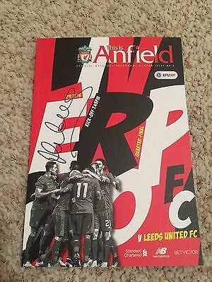Micheal Owen Hand Signed Liverpool V Leeds United 2016/17 EFL Cup Programme